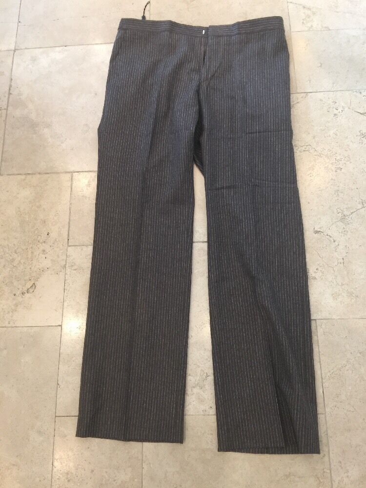 Nigel Hall Men's  Brown Stripped Trousers