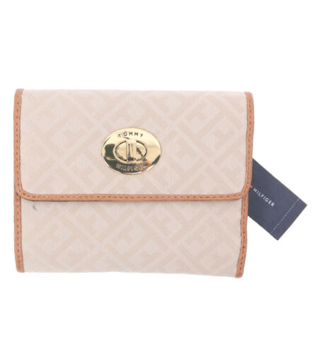 Tommy Hilfiger Women/'s Compact Trifold Wallet $0 Free Ship