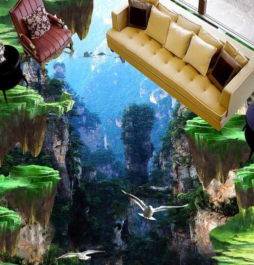 3D 3D 3D Paysage 1 Fond d'écran étage Peint en Autocollant Murale Plafond Chambre Art | Stocker  b99b04