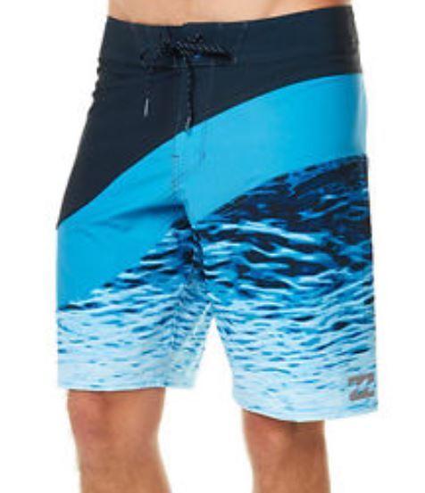 Billabong PULSE X Mens Polyester Stretch Boardshorts 32 bluee NEW