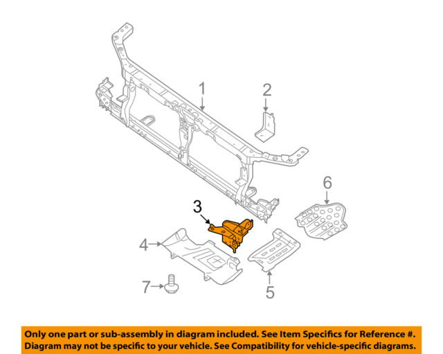 Genuine Nissan 26040-ZP51A Head Lamp Bracket Assembly