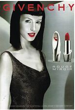 Publicité Advertising 2000 Cosmétique maquillage Rouge miroir de Givenchy