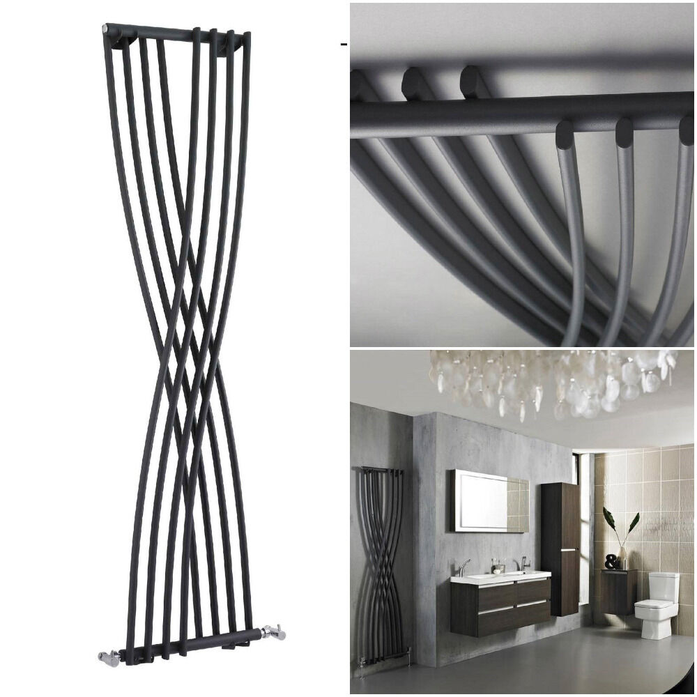 hudson reed radiators xcite designer radiator anthracite. Black Bedroom Furniture Sets. Home Design Ideas