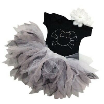 TODDLER MOUSE BLACK PIRATE PARTY 80S FANCY DRESS COSTUME SPARKLE BABY GROW TUTU