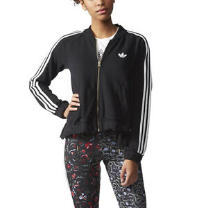 Adidas-Women-039-s-Moscow-Mix-Logo-Track-Jacket-Black-AB2706-NEW