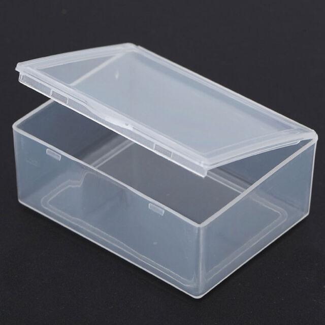 Small Square Clear Transparent Plastic Storage Box Multipurpose Display;