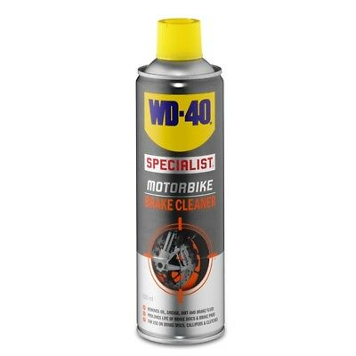 WD-40 44105 Motorbike Brake Cleaner 500ml Oil Grease Dirt Remover Cleaning
