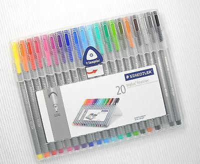 Staedtler 20 Colours 0.3mm Triplus fineliner Set made in Germany