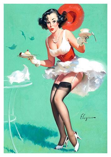 Poster reproduction. Gil Elvgren pin up art 9 :  Vintage magazine artwork