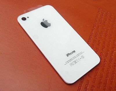 New White Battery Cover Back Door Glass Replacement for Apple IPhone 4S