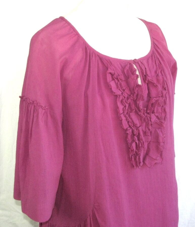 COMPTOIR DES DES DES COTONNIERS DRESS MODEL DARIA COTTON PINK MARENGO SIZE 36 06ac5f