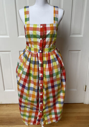 Christopher John Rogers Target Dress Gingham Plai… - image 1