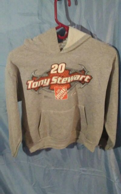 a3eee7a9 Chase NASCAR Tony Stewart #20 The Home Depot Youth Hoodie Gray sz L (14