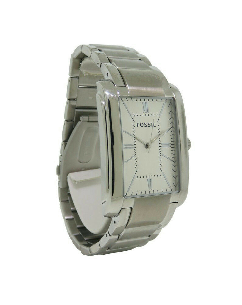 watch armani emporio shop mens rectangular watches silver