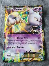 NM JUMBO Pokemon MEWTWO EX Card BLACK STAR PROMO Set XY183 OVERSIZED Big Large