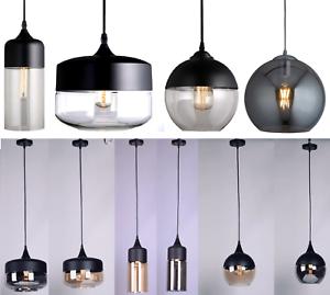 Glass-Shade-Loft-Pendant-Hanging-Light-Ceiling-Lamp-Dinning-Cafe-Chandelier-New