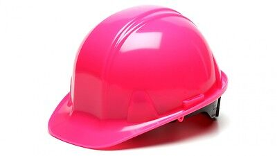 Pyramex HP14170 PINK 4 Point Safety Cap Style Hard Hat Ratchet Suspension