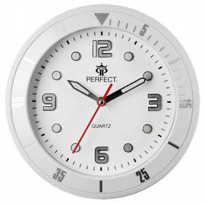 PERFECT-Designer-039-s-Wall-Clock-Silent-Sweep-Second-Hand-WHITE