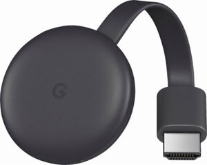 NEW Google - Chromecast (3rd Gen LATEST) Streaming Media Player - Charcoal NR