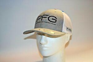 Columbia PFG Hook Logo Snapback Mesh Ball Cap in Cool Grey OSFA