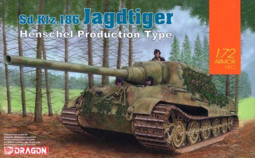 Dragon 1//72 7563 WWII German Sd.Kfz.186 Jagdtiger Henschel Production Type