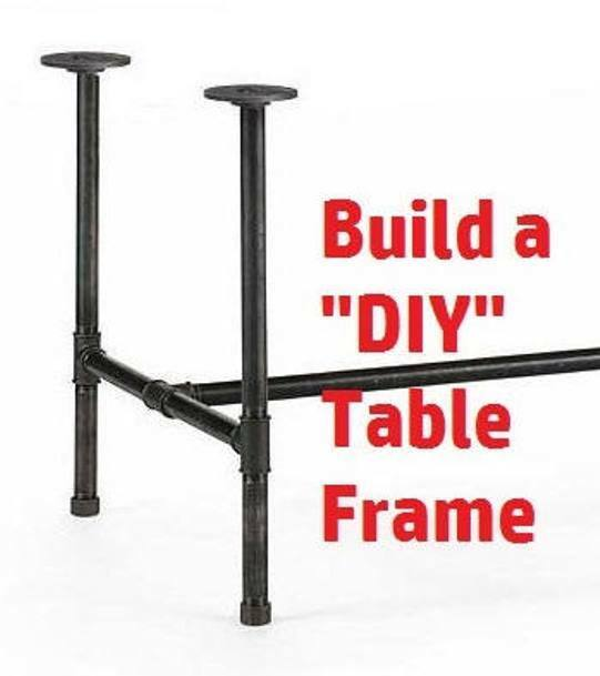 Astonishing Black Pipe Table Frame Kit 3 4 X 54 Long X 24 Wide X 40 Tall Bar Height Ibusinesslaw Wood Chair Design Ideas Ibusinesslaworg