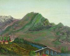 Odette CALY(1914-)HSP Paysage du Jura Bourgogne;Franche Comté;Lons le Saunier