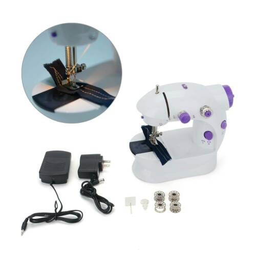 Mini Desktop Electric Sewing Machine 12 Stitches Household Tailor Foot Pedal US