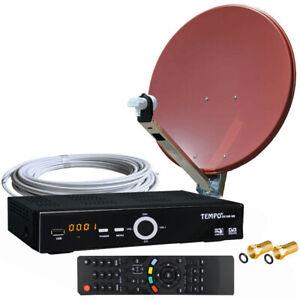 2-Teilnehmer-HDTV-Sat-Anlage-90cm-ALU-Sat-Spiegel-HDTV-Sat-Receiver-und-Twin-LNB
