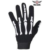 Skeleton Mechanics Gloves Giving Middle Finger