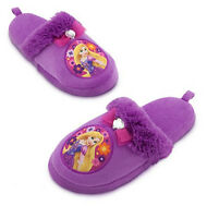 Disney Tangled Rapunzel Purple Slippers Size 11/12 Princess Soft Shoes Gift