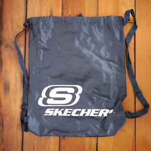 NEW SKECHERS Navy Blue Nylon Drawstring School Book Bag Gym ...
