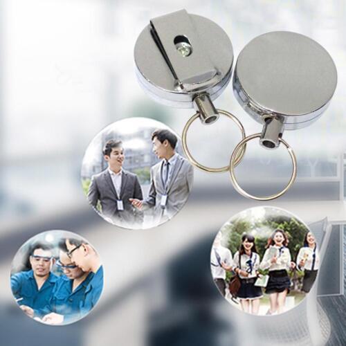 1Stk Einziehbar Reel ID Abzeichen Lanyard Name Tag Schlüsselanhänger Halter Clip