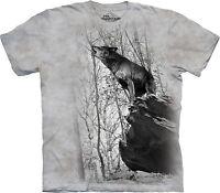 The Mountain Unisex Adult Symmetry Wolves T Shirt