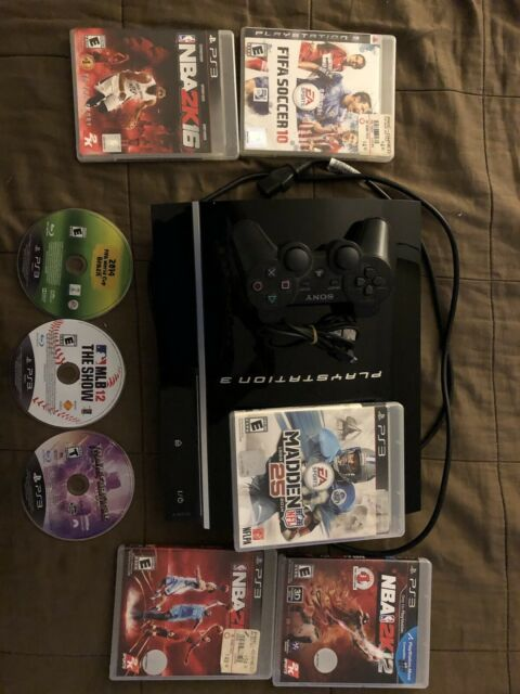 Sony PlayStation 3 Slim  CECH-2501B 320GB Console - Charcoal Black BUNDLE