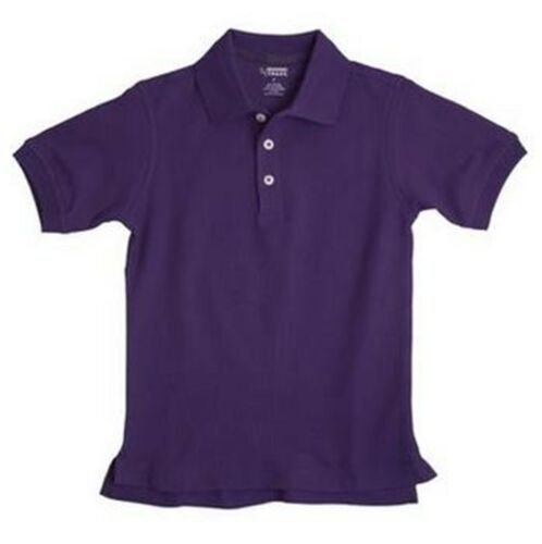 New FRENCH TOAST School Uniforms Boys Sz 10 Husky Short Sleeve POLO Shirt Purple
