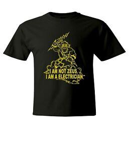 I-039-m-Not-ZEUS-I-039-m-an-Electrician-Men-Women-Unisex-Crew-Neck-Short-Top-Tee-T-Shirt