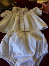 bébé ou gros poupon poupée vintage ,2piéces ,neuves ,culotte et corsage gansé