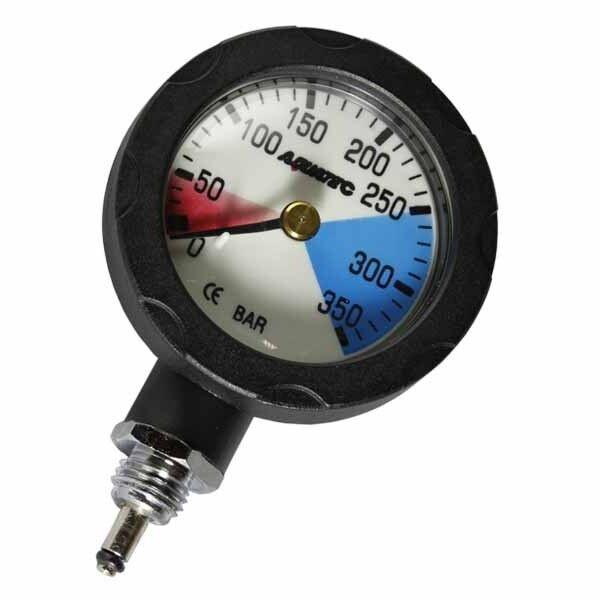 AQUATEC Scuba Pressure Gauge Scuba Diving Spool SPG Console Gauge PG-400M