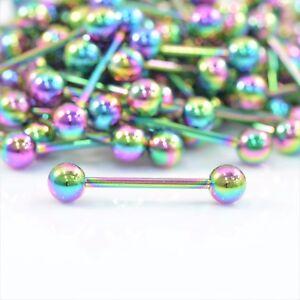Rainbow-Tongue-Bar-Straight-Barbell-Piercing-Steel-Eyebrow-Tragus-Nipple