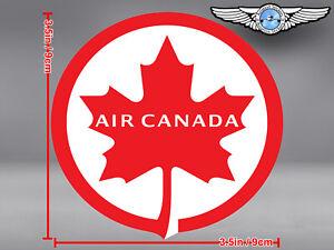 AIR CANADA LOGO ROUND DECAL / STICKER