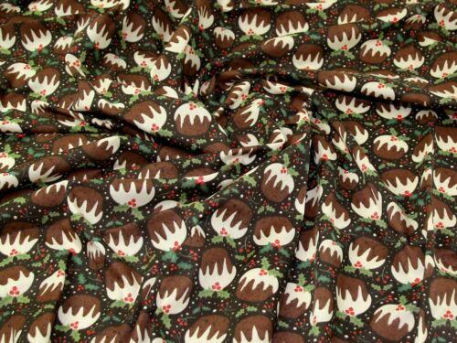 Tela polycotton estampado marrón-Por Metro