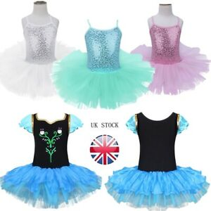 UK-Kids-Girls-Ballet-Dance-Dress-Leotard-Tutu-Skirt-Ballerina-Costume-Dance-Wear