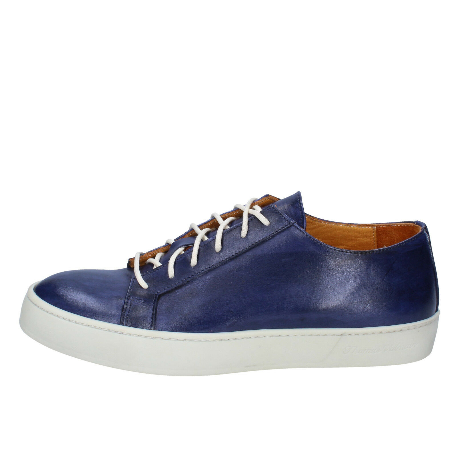 Scarpe uomo THOMAS VALMAIN 41 scarpe da da da ginnastica blu pelle AB806-C 3ca4eb
