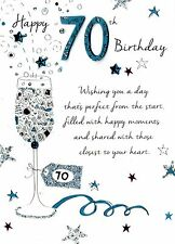 Male 70th Birthday Greeting Card Second Nature Just To Say Cards
