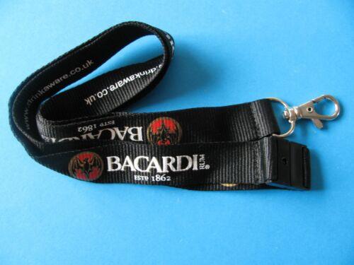 Bat Logo Black New BACARDI Rum Lanyard
