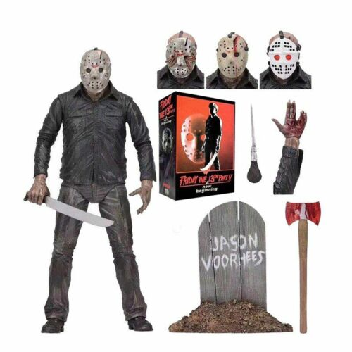 "Neca 7/""Scale Action Figures Friday The 13th Leatherface Chainsaw Freddy Gift toy"