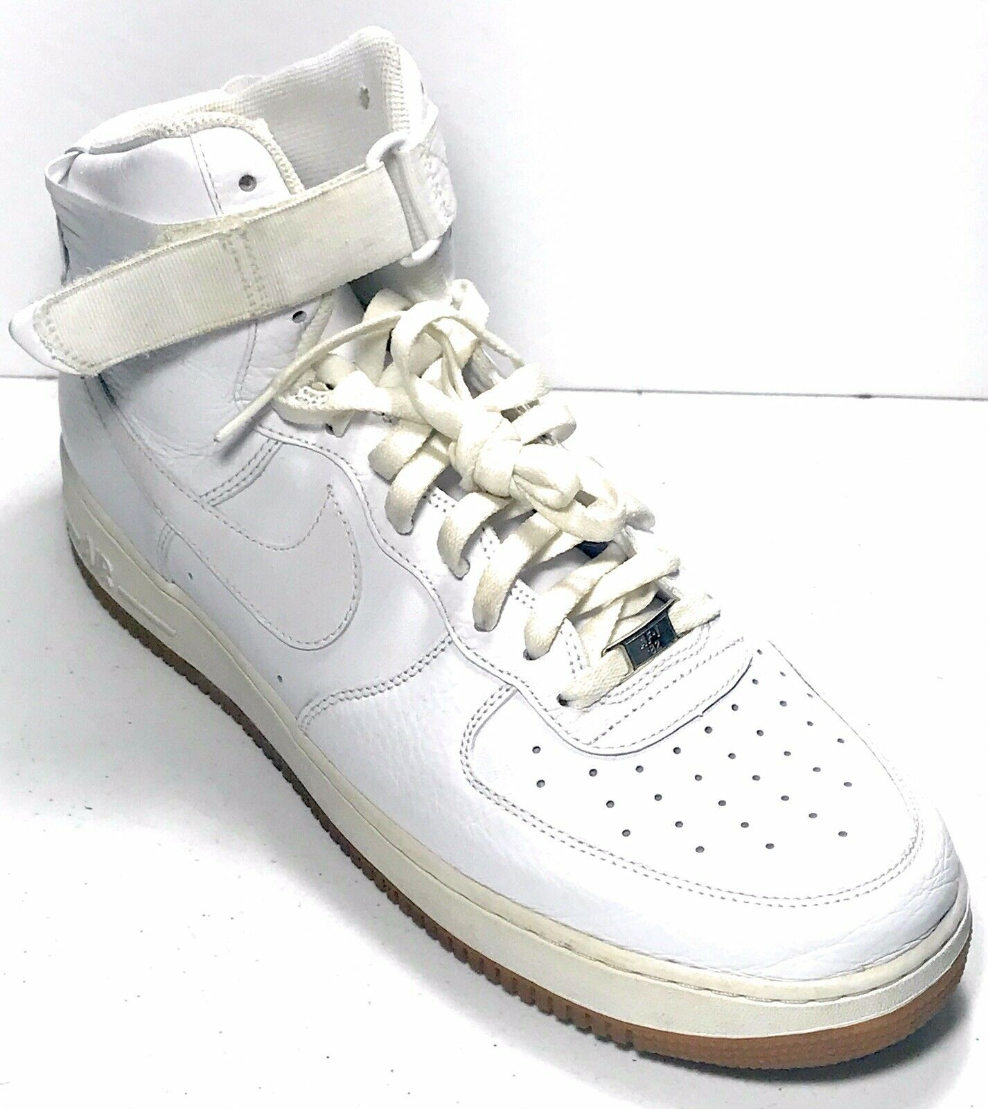 Rare DS NIB Nike Air Force 1 High Top White Sneakers Gum Sole 315121 102 Size 14