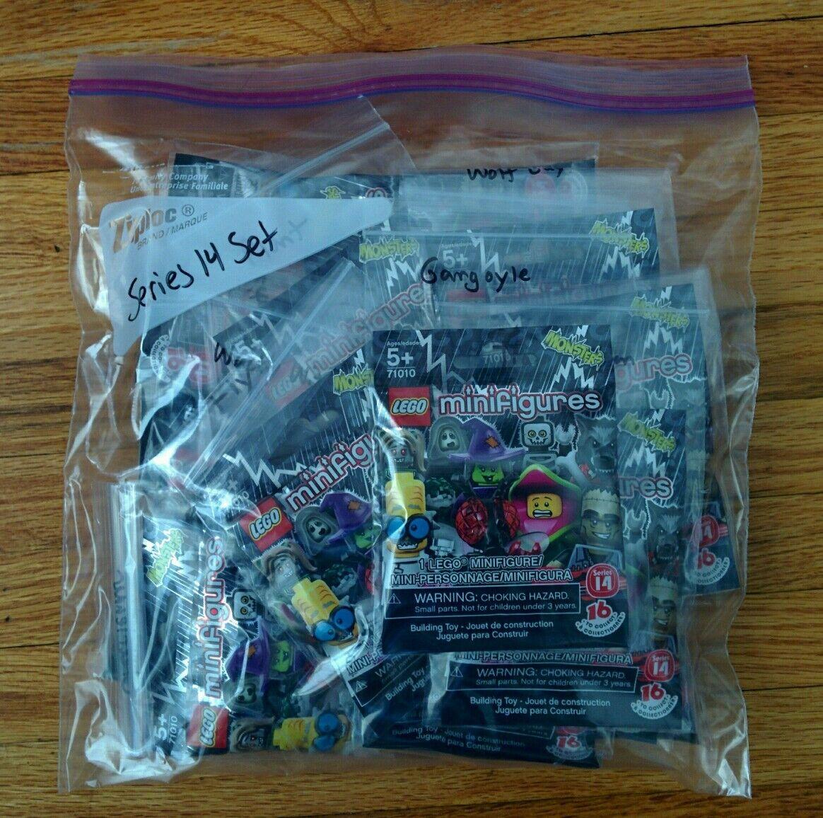 LEGO serie 14 Minifiguras 71010 Set Completo De 16 + Envío Gratis