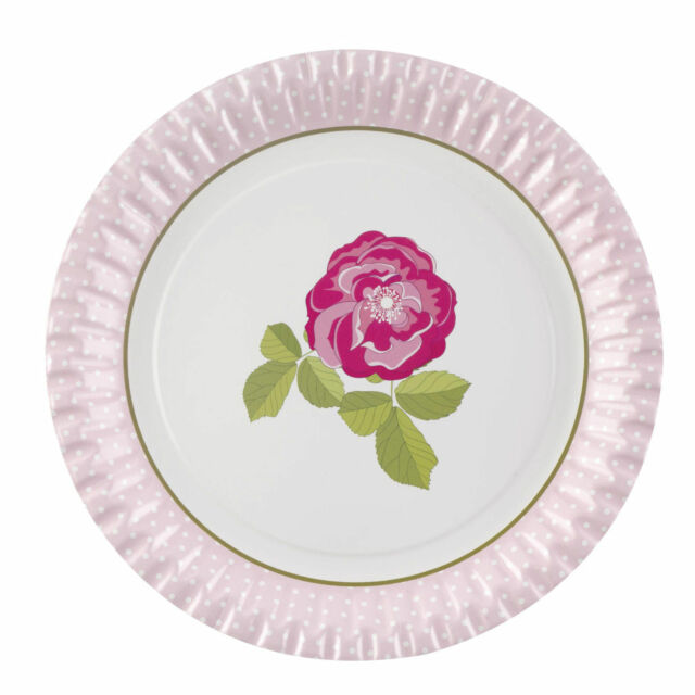 Vintage Rose Paper Plates Shabby Chic Perfect for Tea Parties Weddings  sc 1 st  eBay & 8 X Vintage Rose Paper Plates 23cm Shabby Chic Wedding Party ...